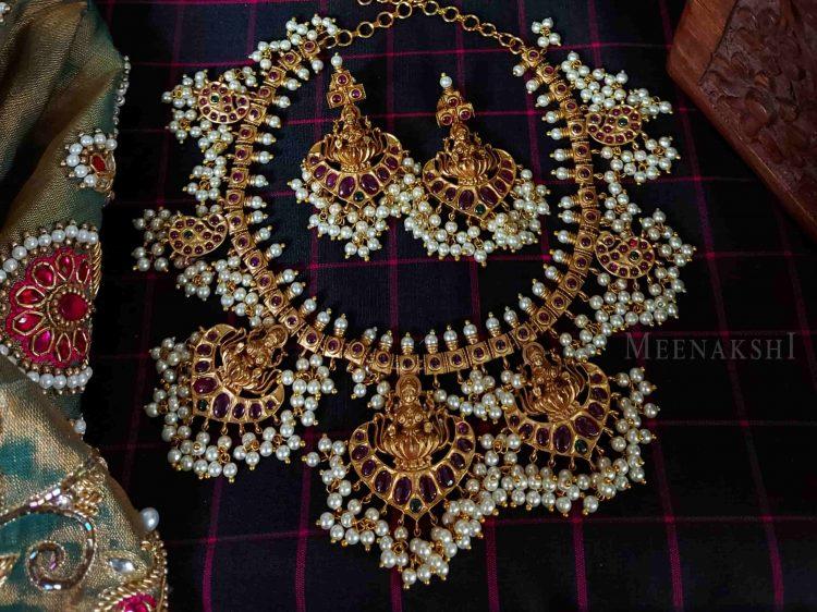 Bridal Lakshmi Guttapusalu Necklace-01