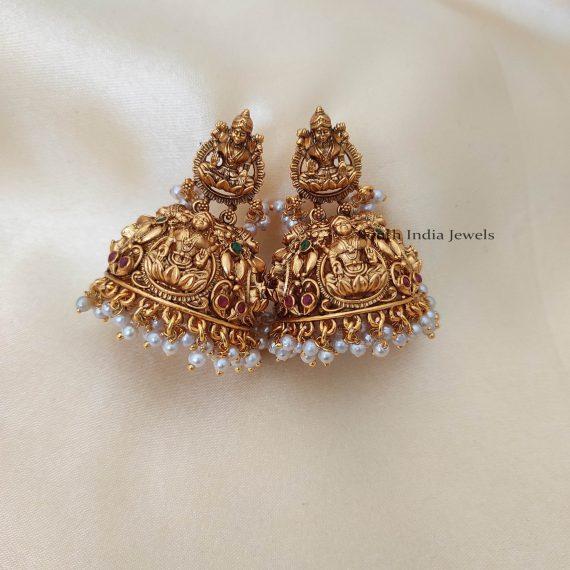 Bridal Style Temple Lakshimi Jhumka-01