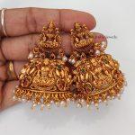 Bridal Style Temple Lakshimi Jhumka-02