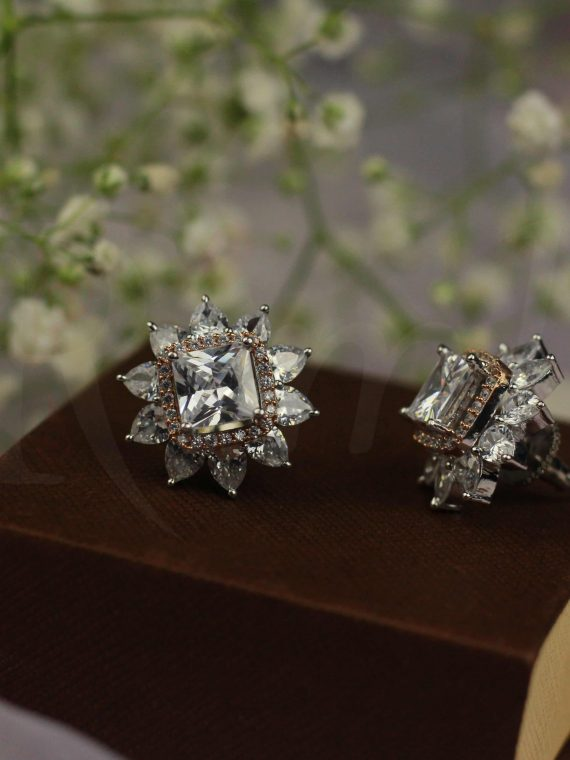 Classic Diamond alike Ear Studs-01