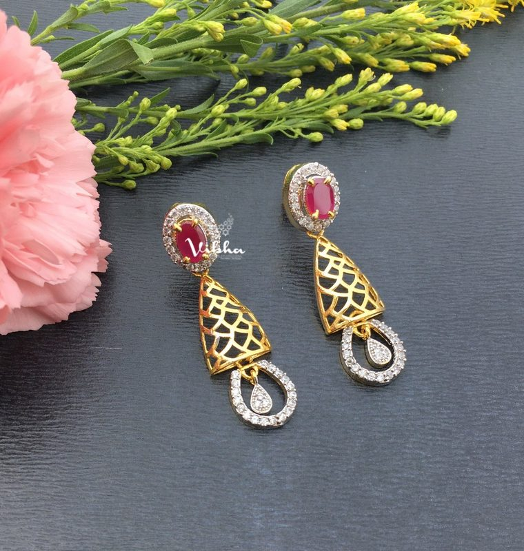 Designer Gold Polish Earrings-01