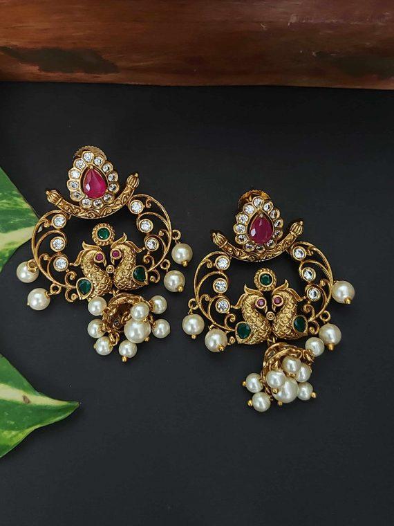 Designer Unique Peacock Earrings-01