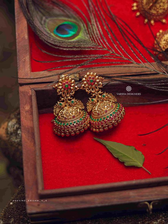 Exclusive Bridal Peacock Design Jhumka-01