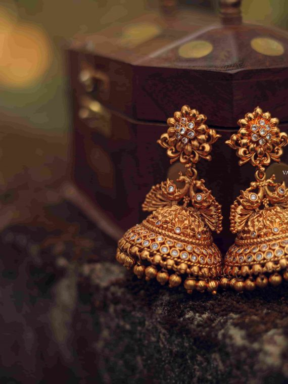 Exclusive Bridal Peacock Design Jhumka-02