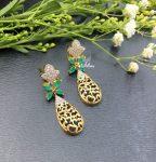 Floral Designer Fashion Dangler Earrings-02