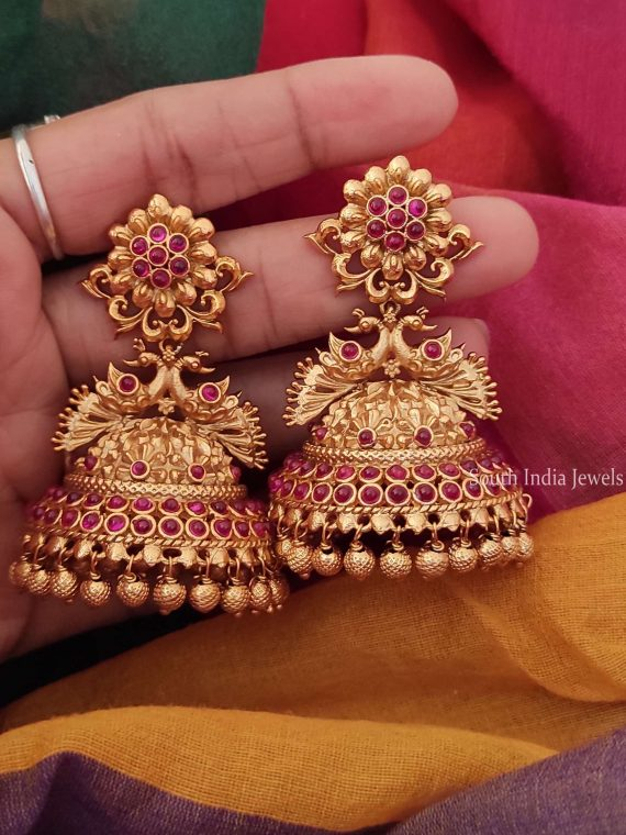 Flower Design Bridal Jhumka-01