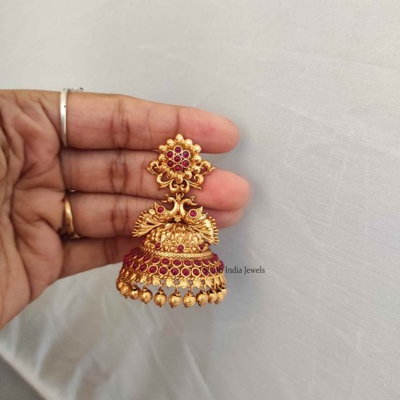 Flower Design Bridal Jhumka-02