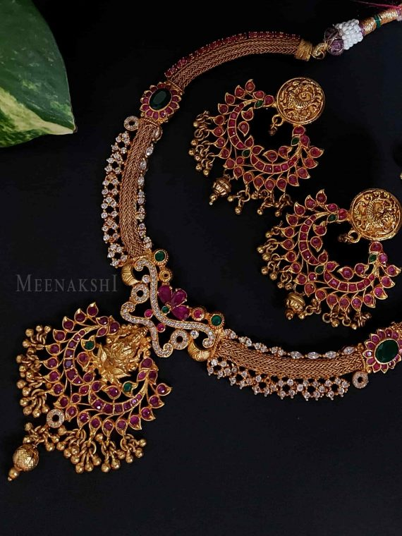 Gorgeous Lakshmi Pure Kemp Necklace-01