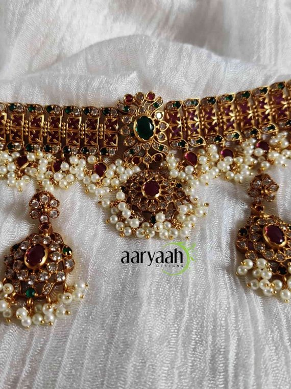 Gorgeous Wedding Special Guttapusalu Choker-01