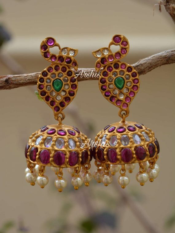 High Quality Exclusive Peacock Jhumka-01