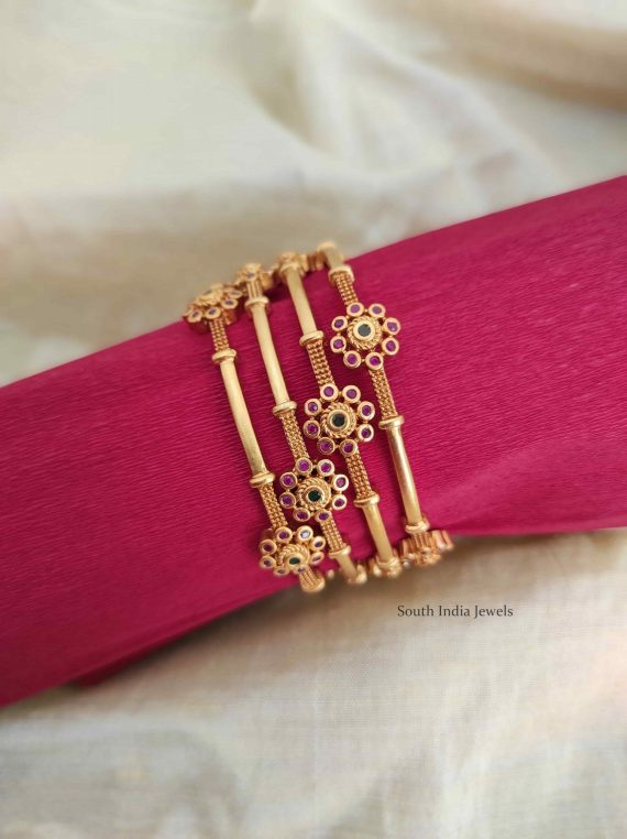 Imitation Flower Design Bangles-01