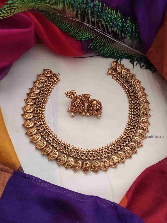 Kerala Style Antique Coin Necklace-01