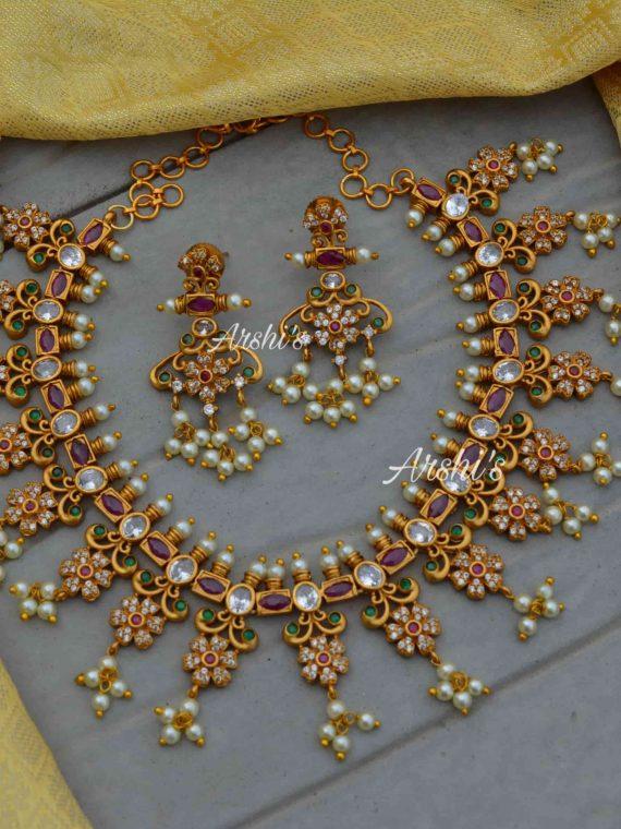 Original Multi Stone Guttapusalu Necklace-01