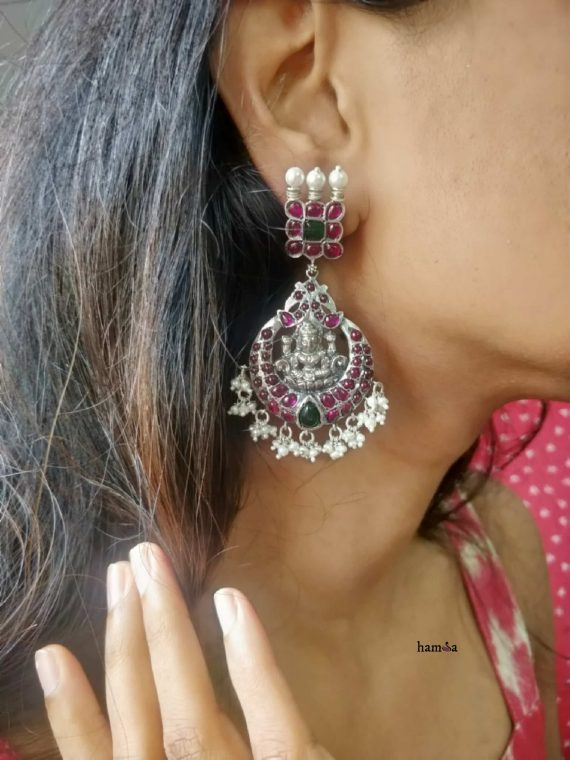 Original Silver Kemp Lakshmi Chandbali Earrings-02