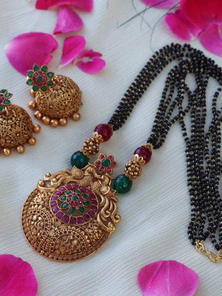 Peacock Design Pendant Mangalsutra