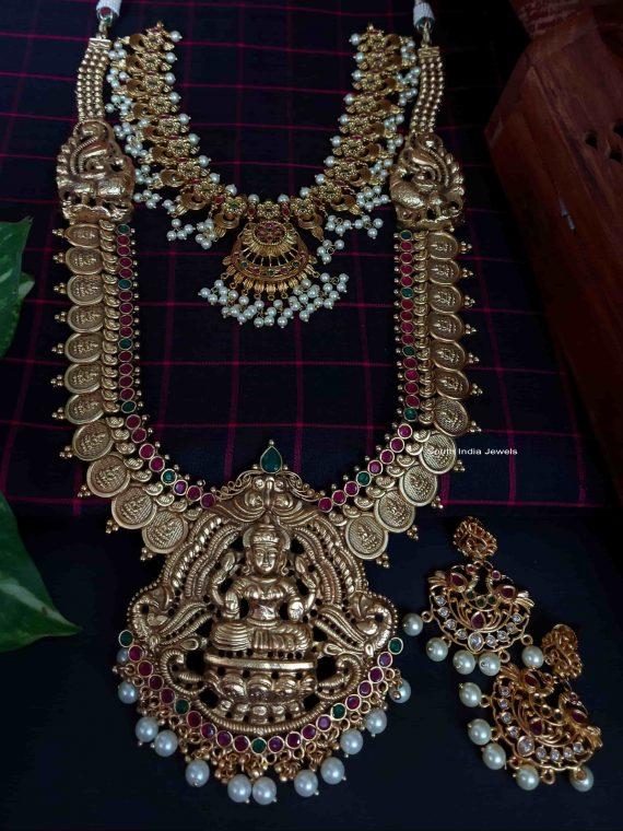 Premium Quality Antique Lakshmi Bridal Set-01