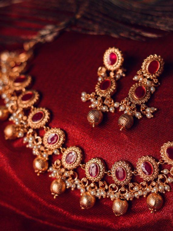 Premium Quality Ruby Designer Necklace-01