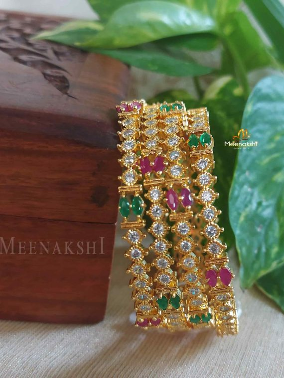 Multi color CZ Designer Bangles