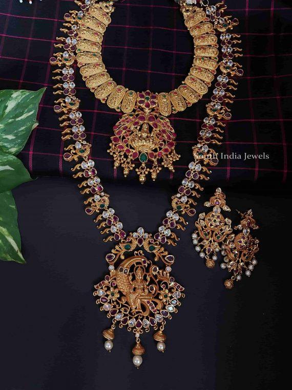 Gold Plated Lakshmi Design Bridal Set