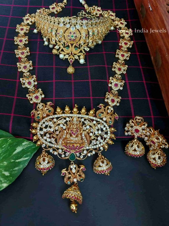Imitation Guttapusalu Bridal Set With Earrings