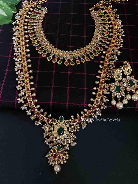 Imitation Guttapusalu Bridal Set With Earrings
