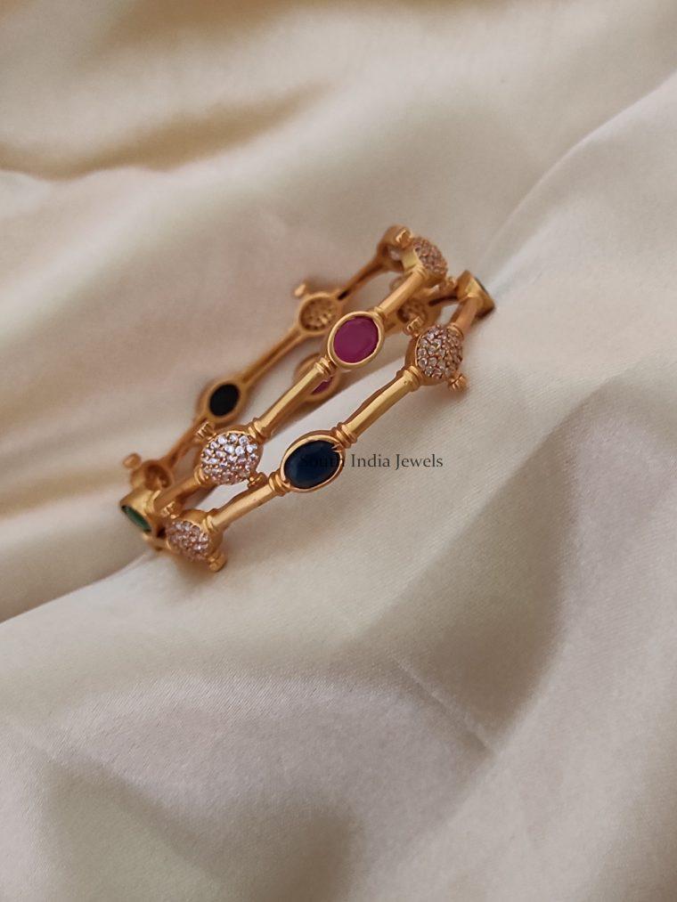 Simple & Elegant Navarathna Stone Bangles-01