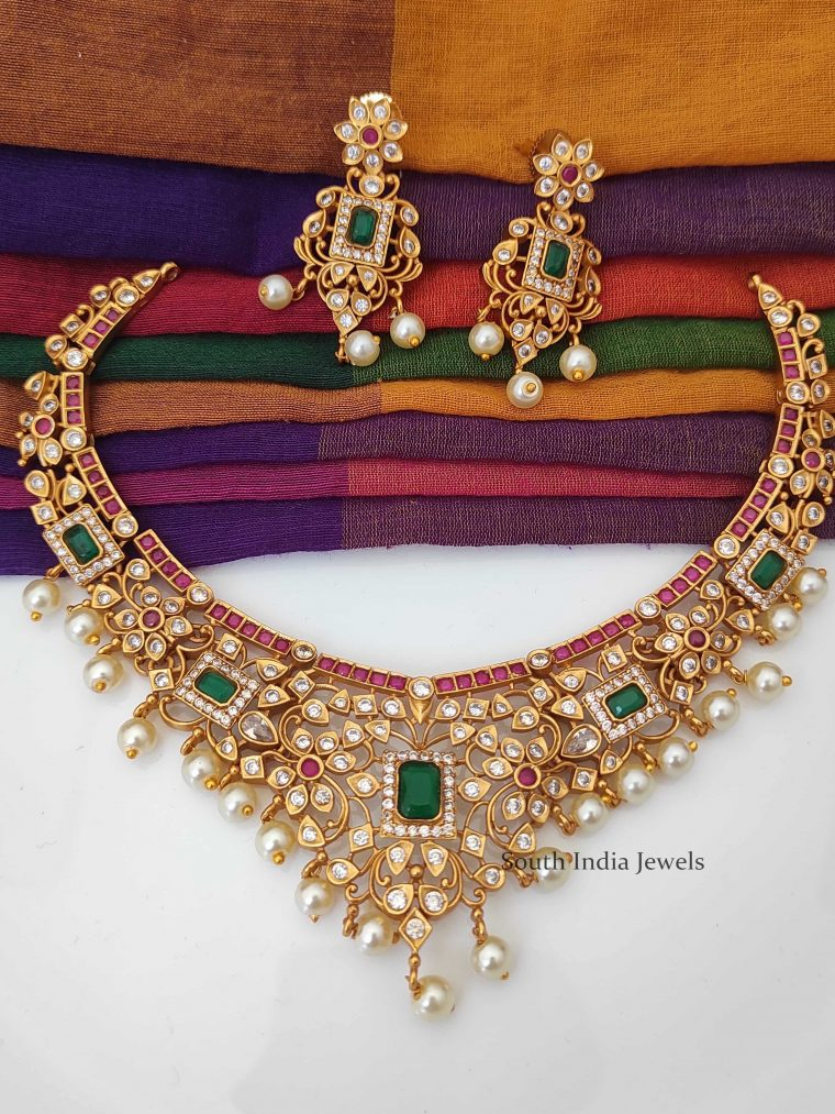 South Indian Ruby & Emerald Necklace-01
