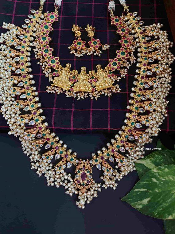 Sparkling Gold Plated Guttapusalu Bridal Set-01