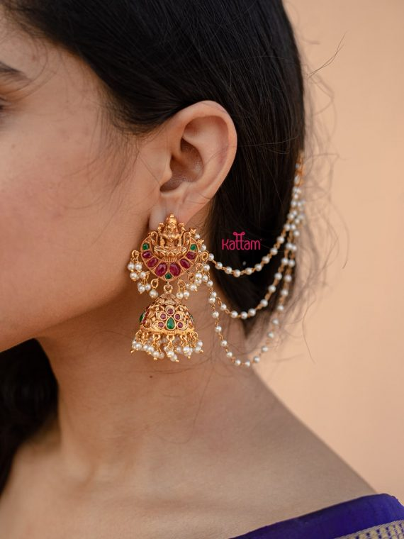 Traditional Lakshmi Earrings with Mattel-01