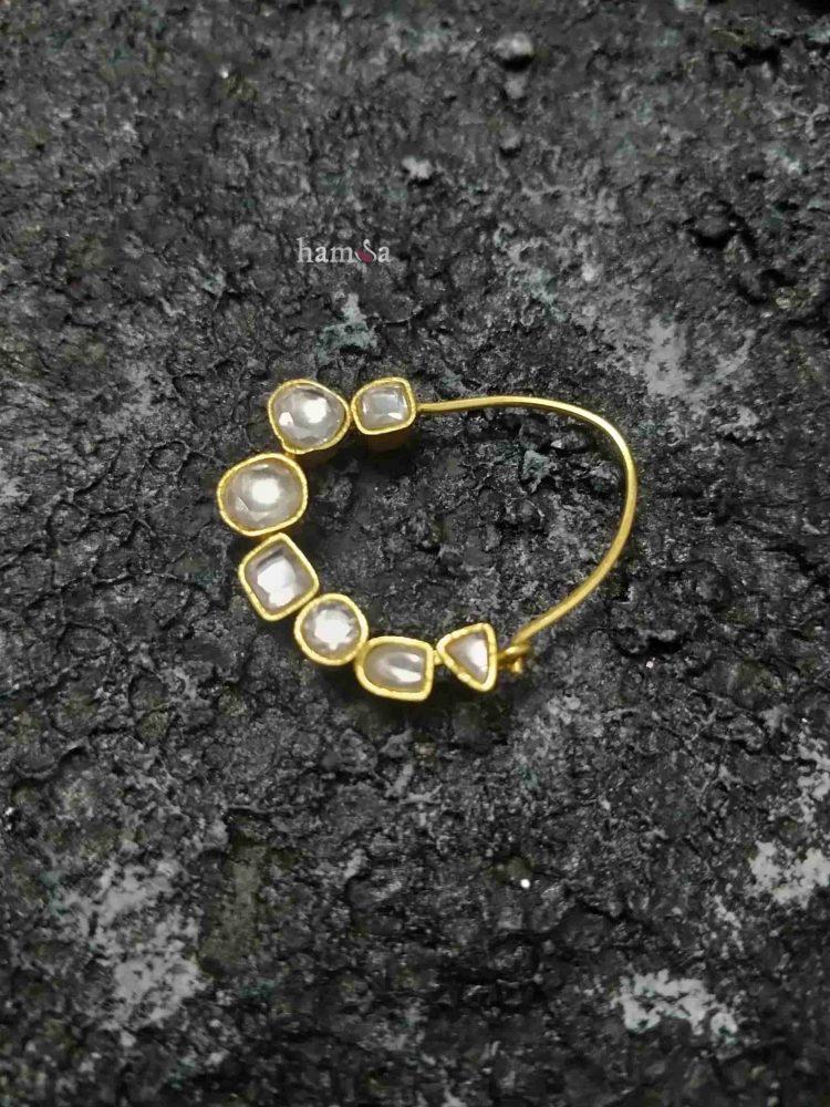 Traditional Silver Kundan Nose Rings-04