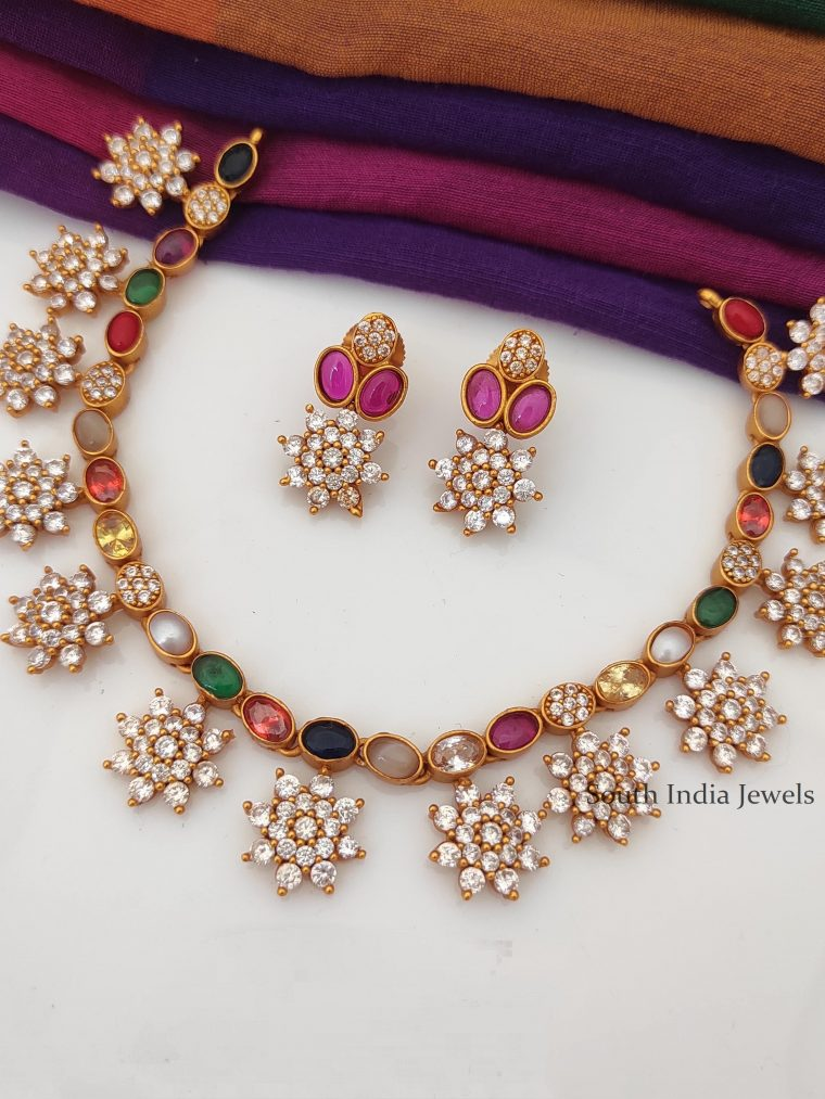 Trendy Designer Navarathna Necklace-01