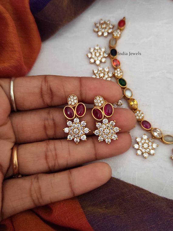 Trendy Designer Navarathna Necklace-04