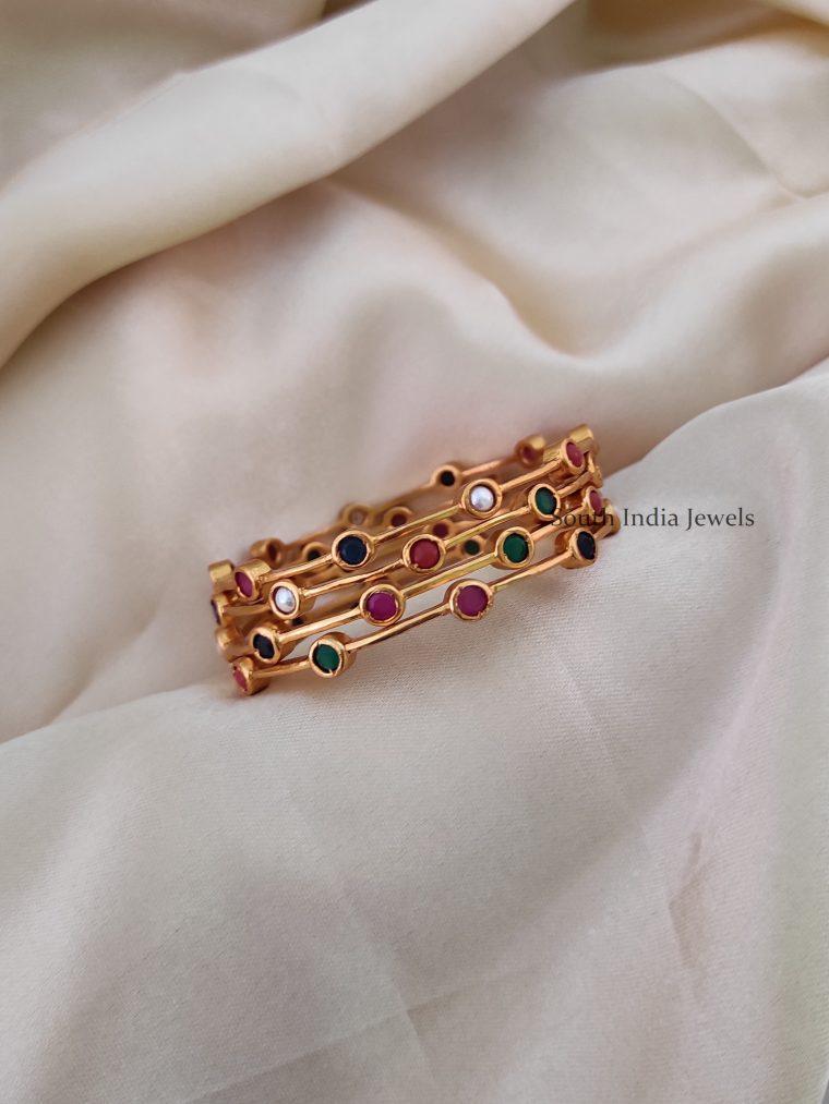 Trendy Navarathna Stone Bangles-01