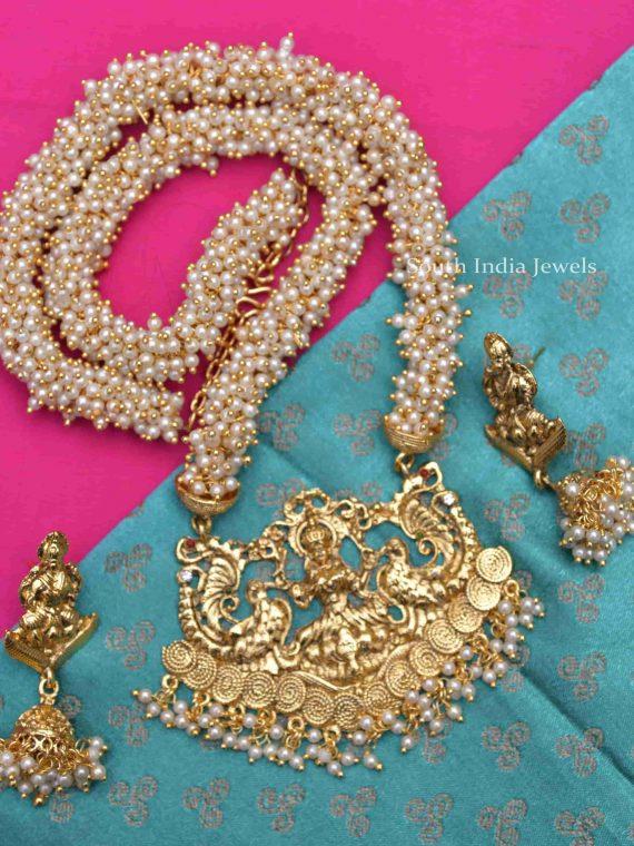 Beautiful Lakshmi Pendant Pearl Cluster