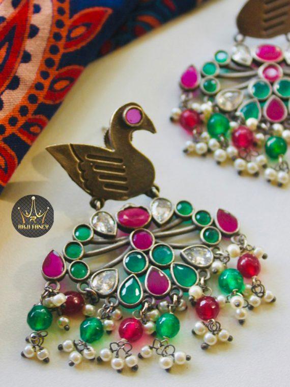 Unique Oxidized Designer Earrings-01