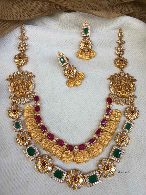 Amazing Two layer Lakshmi Coin Necklace