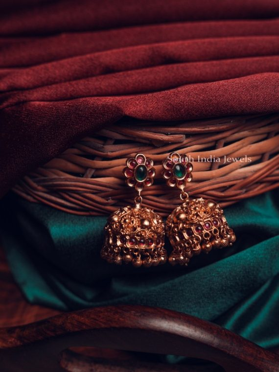Antique Floral Desdign Imitation Jhumka