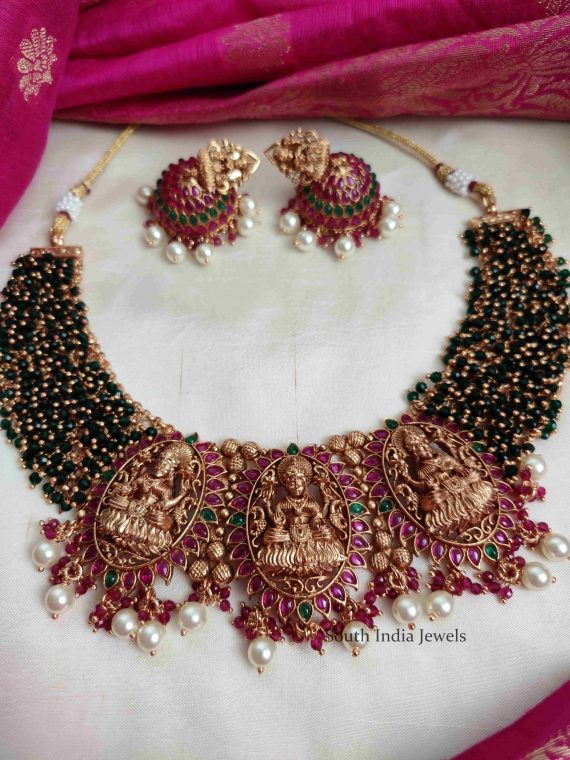Beads & Kemp Three Pendant Lakshmi Necklace