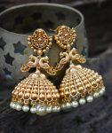 Beautiful Antique Peacock Design Jhumka