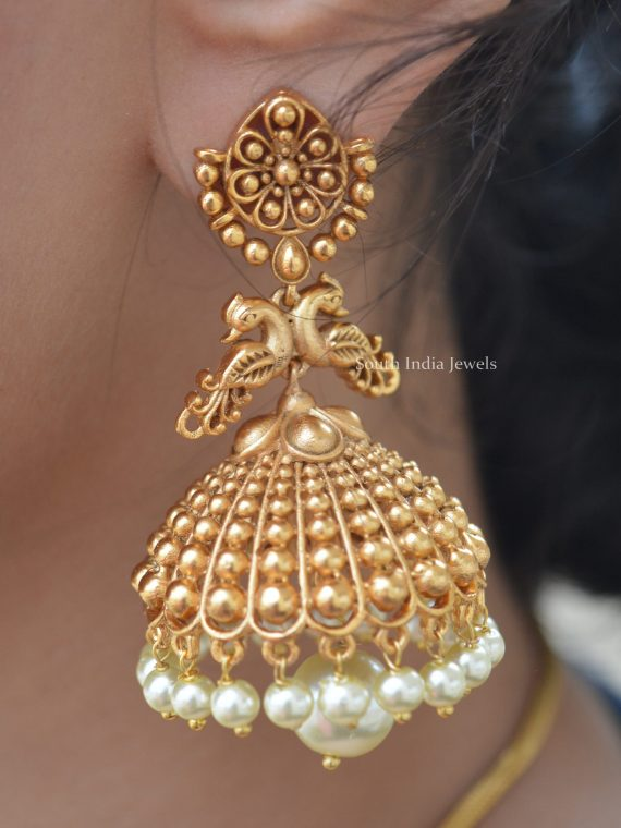Beautiful Antique Peacock Design Jhumka
