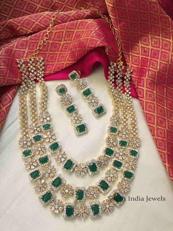 Beautiful CZ Stone Three Layer Necklace