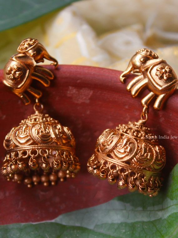 Beautiful Elephant Design Jhumka