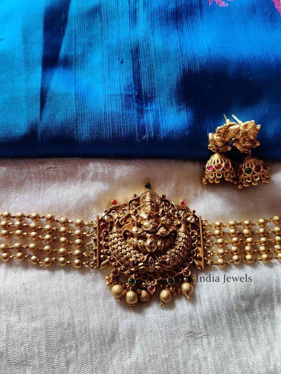 Beautiful Ganesh High Neck Choker