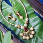 Beautiful Golden Pipeset Multi Stone Necklace
