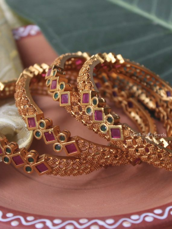 Beautiful Imitation Multi Stone Bangles