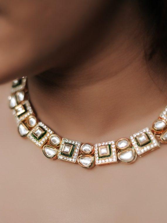 Beautiful Jaipur Edition Kundan Stone Necklace