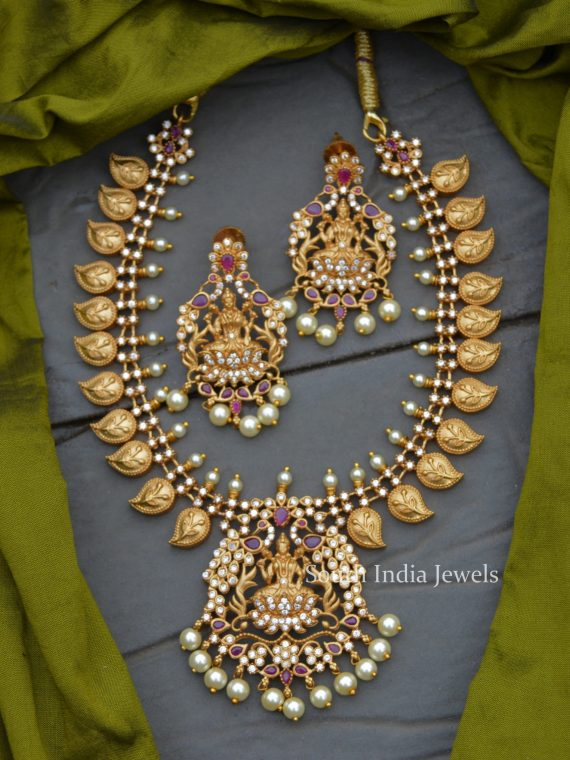 Beautiful Lakshmi Design AD Stone Necklace