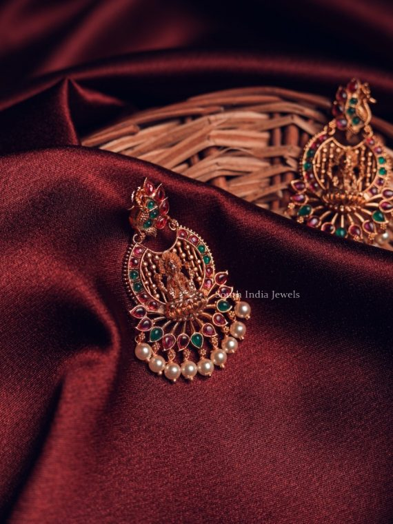 Beautiful Lakshmi Design Earrings