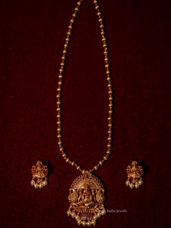 Beautiful Lakshmi Pendant Simple Chain