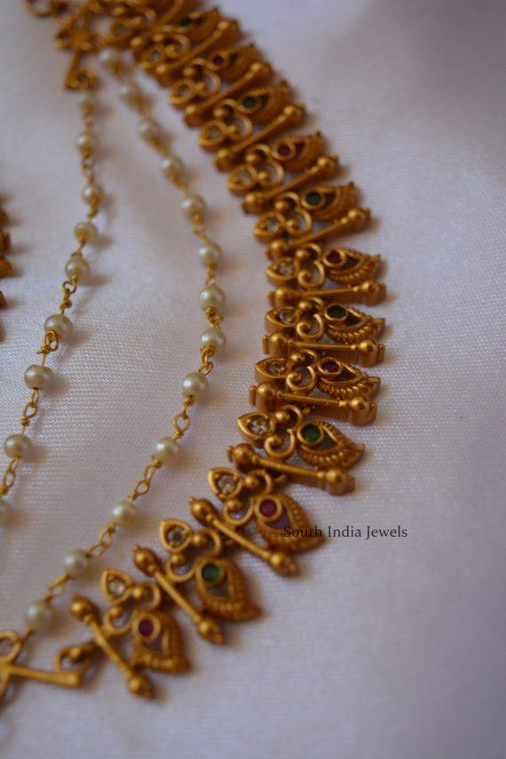 Beautiful Mango Design Mattal with Pearl Chain